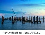 Broken Pier And Mast Of Broken...