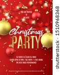 merry christmas party flyer.... | Shutterstock .eps vector #1510968368