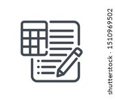 accounting report line icon....