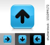 arrow icon set blue color...
