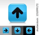 arrow icon set blue color...