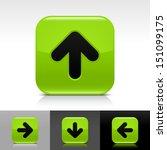 arrow icon set green color...