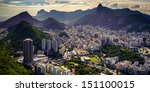 aerial view of a city on a hill ... | Shutterstock . vector #151100015