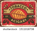 Cigars And Tobacco Vintage Tin...