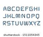 dna alphabet logo or symbol... | Shutterstock .eps vector #1511054345