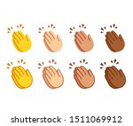 clapping hands emoji set.... | Shutterstock . vector #1511069912