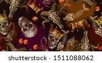 embroidery golden crown  skulls ... | Shutterstock .eps vector #1511088062