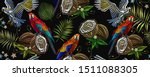 embroidery. tropical art.... | Shutterstock .eps vector #1511088305