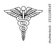 medical snake vector bold... | Shutterstock .eps vector #1511108165