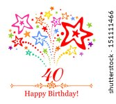 happy birthday card.... | Shutterstock .eps vector #151111466