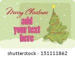 christmas greeting | Shutterstock .eps vector #151111862