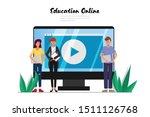 online education on website...   Shutterstock .eps vector #1511126768