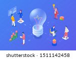 teamwork idea isometric flat... | Shutterstock .eps vector #1511142458