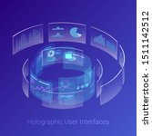 isometric holographic virtual... | Shutterstock .eps vector #1511142512