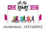 set of marathon start finish... | Shutterstock .eps vector #1511160512