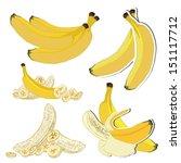 set of banana vector... | Shutterstock .eps vector #151117712