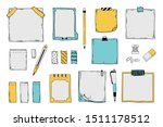 doodle sticky notes. notepad... | Shutterstock .eps vector #1511178512