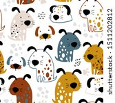 seamless pattern with funny... | Shutterstock .eps vector #1511202812