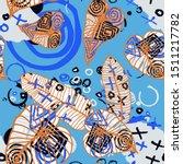 hand drawn seamless pattern... | Shutterstock .eps vector #1511217782