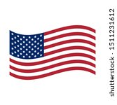 waving flag usa. united states... | Shutterstock .eps vector #1511231612