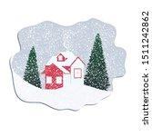 winter landscape. house in the... | Shutterstock .eps vector #1511242862