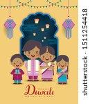 diwali or deepavali greeting... | Shutterstock .eps vector #1511254418