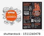 bagel and sandwich menu... | Shutterstock .eps vector #1511260478