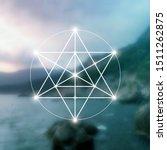 merkaba sacred geometry... | Shutterstock .eps vector #1511262875