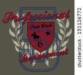 college polo player vector art | Shutterstock .eps vector #151126772