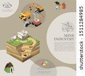 isometric mining industry... | Shutterstock .eps vector #1511284985