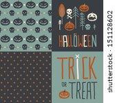 vector set of four halloween...   Shutterstock .eps vector #151128602