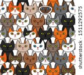 many different  ute cats... | Shutterstock .eps vector #1511292575
