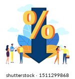 vector illustration  percent... | Shutterstock .eps vector #1511299868