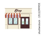 flat design shop facade icon....   Shutterstock .eps vector #1511299955