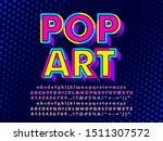3d pop art text effect | Shutterstock .eps vector #1511307572