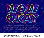 colorful dark memphis text... | Shutterstock .eps vector #1511307575