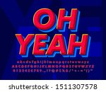 modern red and blue text effect | Shutterstock .eps vector #1511307578