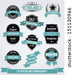 set of vintage retro labels ... | Shutterstock .eps vector #151130966