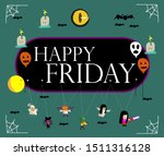 happy friday  beautiful... | Shutterstock .eps vector #1511316128