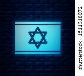 glowing neon flag of israel...   Shutterstock .eps vector #1511318072