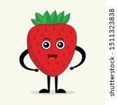 strawberry. cute fruit vector... | Shutterstock .eps vector #1511323838