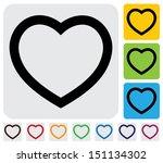 human heart love  icon symbol ...   Shutterstock . vector #151134302