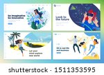 web design templates of virtual ... | Shutterstock .eps vector #1511353595