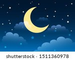 abstract starry night sky with... | Shutterstock .eps vector #1511360978