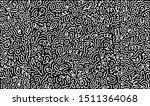 scattered geometric line shapes.... | Shutterstock .eps vector #1511364068