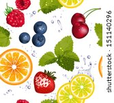Seamless Pattern With Fruit An...