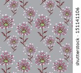 seamless pattern with dry... | Shutterstock .eps vector #151141106