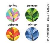 Set Of Seasons Illustrations...