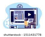 video editor concept.... | Shutterstock .eps vector #1511431778