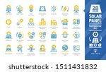 solar panel color icon set with ... | Shutterstock .eps vector #1511431832